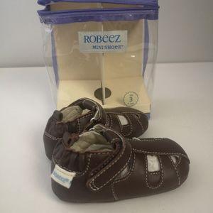 Robeez mini shoez brown sandals.